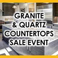 Summer savings spectacular quartz and granite countertops. Free undermount sink with purchase!
