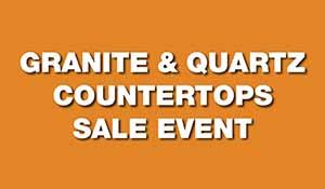 35th Anniversary sale on granite and quartz countertops. Free under-mount sink with purchase