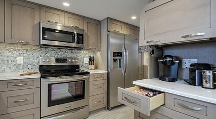 Erskine Interiors offers some of the industry's finest custom, semi-custom and modular cabinet options.