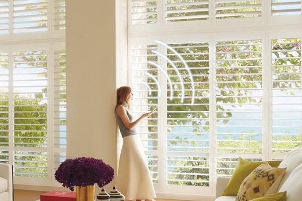 Hunter Douglas - PALM BEACH – CONTROL YOUR SHUTTERS WITH YOUR VOICE