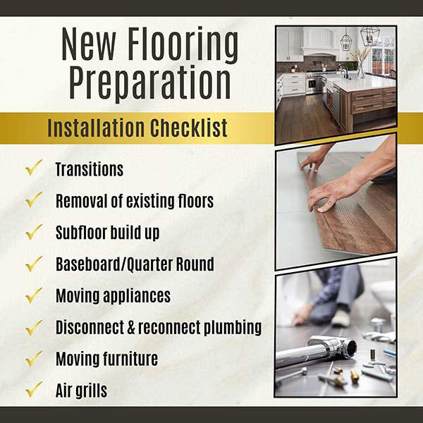 New flooring preparation - installation checklist