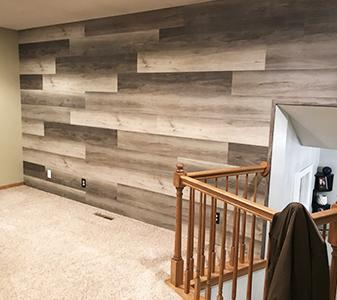 Accent Wall LVP by Erskine Interiors