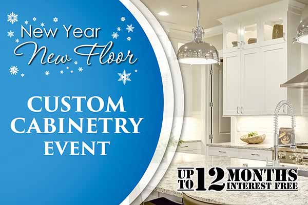 Save on Custom Cabinetry during our New Year New Floor sale at Erskine Interiors
