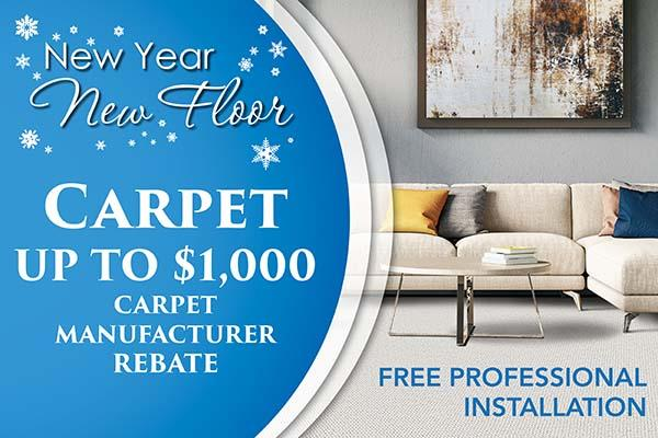 New Year New Floor carpet sale