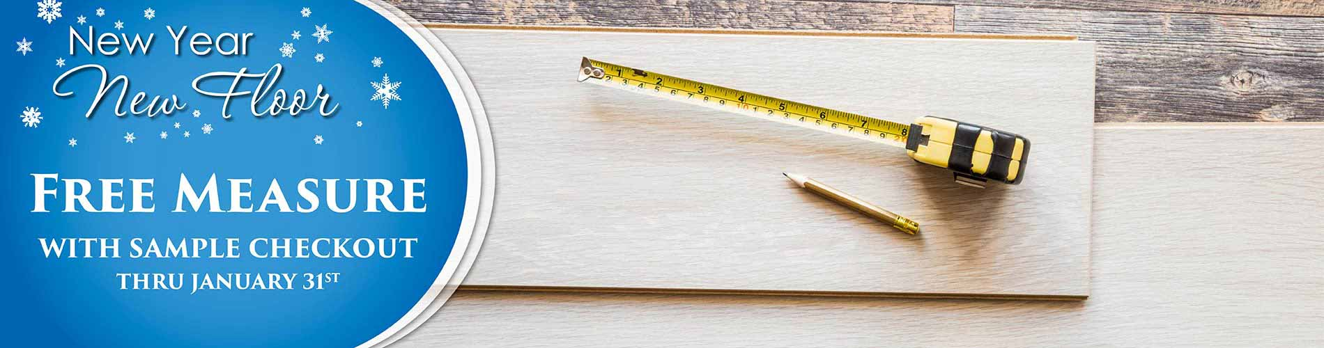 Get a free measure with sample checkout during our new year new floor sale at Erskine Interiors