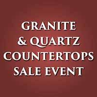 Granite and quartz countertops sale. Free under-mount sink with purchase