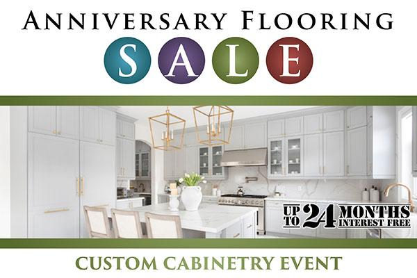 Custom cabinetry event during our Anniversary Flooring Sale