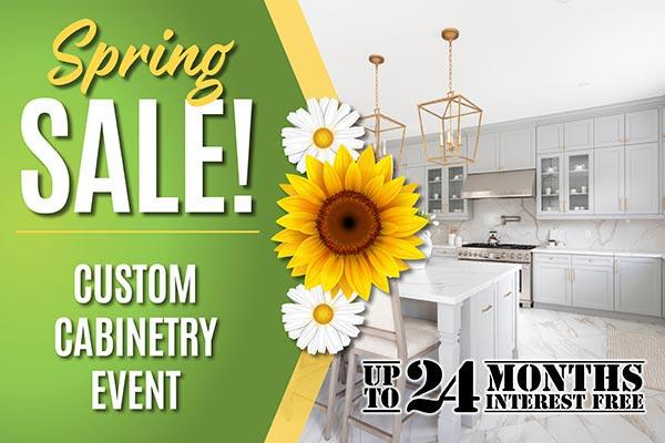 Custom cabinetry event during our Spring Sale