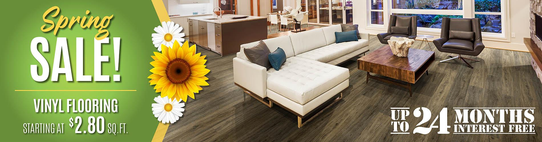 Spring Sale! Vinyl flooring starting at $2.80 sq. ft.