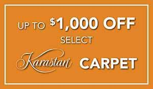 Karastan Fall Extravaganza up to $1,000 off select Karastan carpet