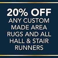 Gold Tag Flooring Sale!20% off any custom made area rugs and all hall and stair runners