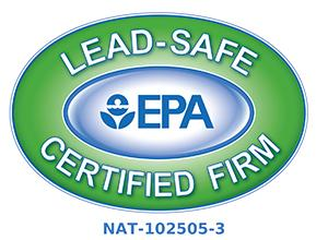 Lead-Safe EPA Certified Firm NAT-102505-3